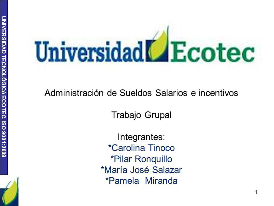 Administración de Sueldos Salarios e incentivos