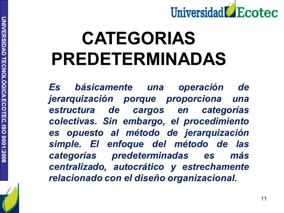 CATEGORIAS PREDETERMINADAS