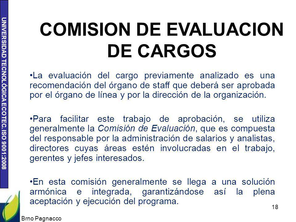 COMISION DE EVALUACION DE CARGOS