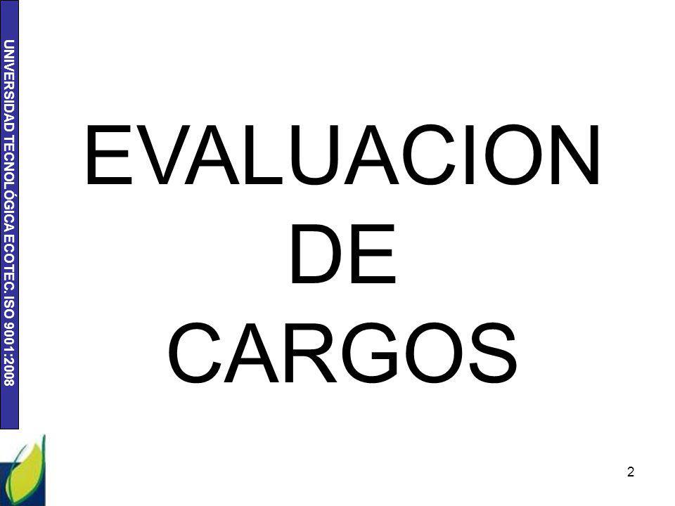 EVALUACION DE CARGOS