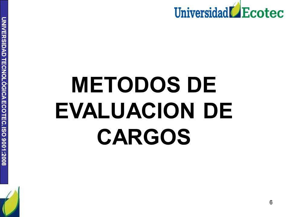 METODOS DE EVALUACION DE CARGOS