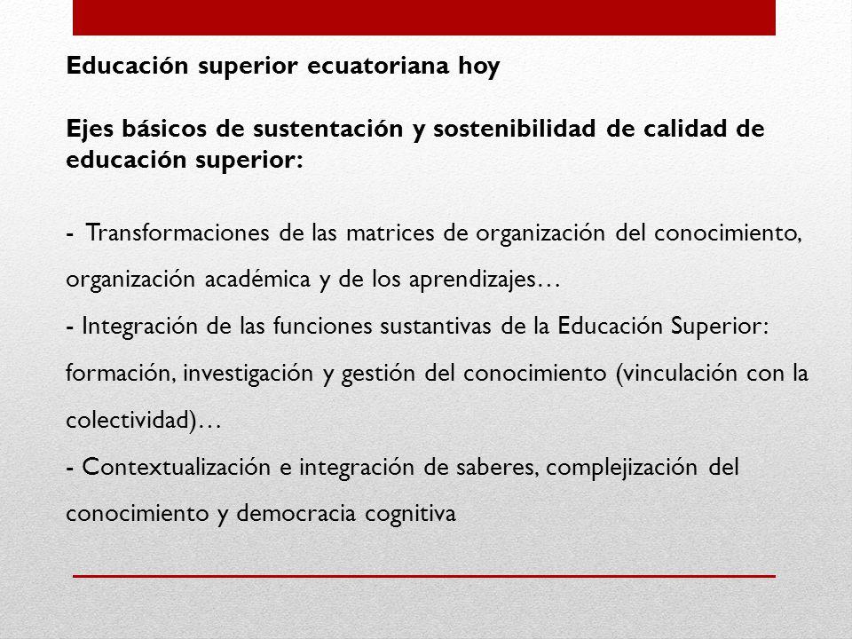 Educación superior ecuatoriana hoy