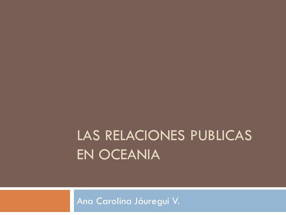 Las Relaciones Publicas en OCEANIA