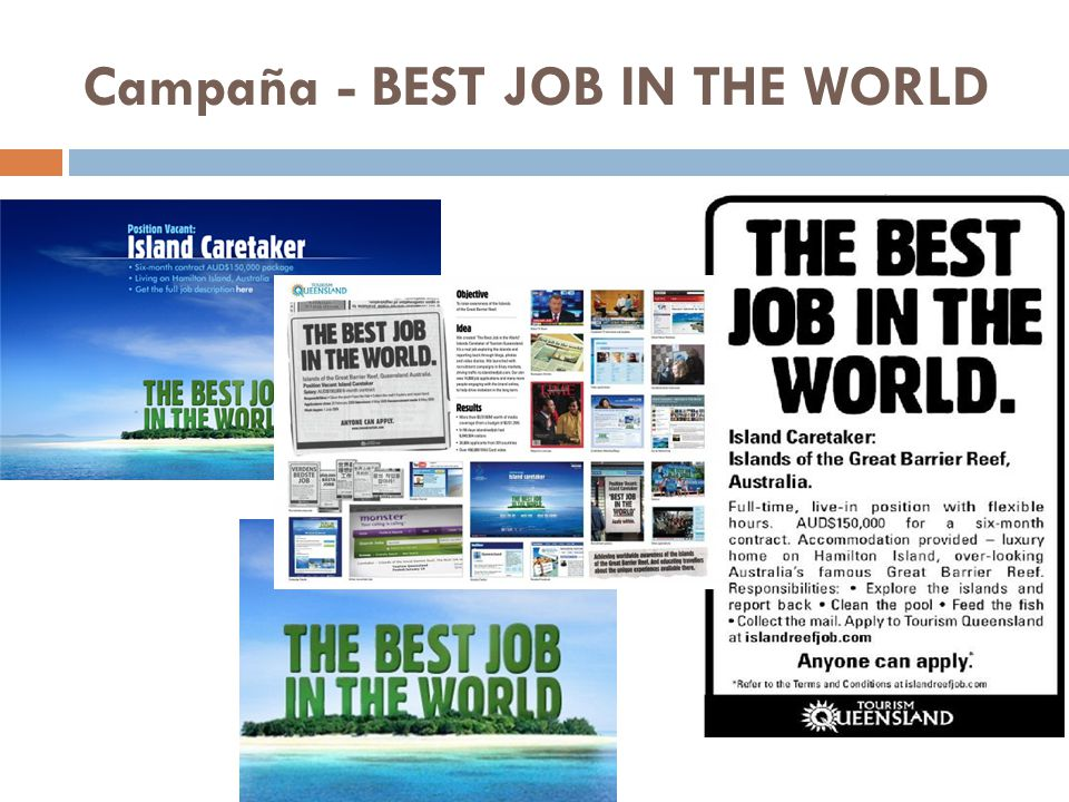 Campaña - BEST JOB IN THE WORLD