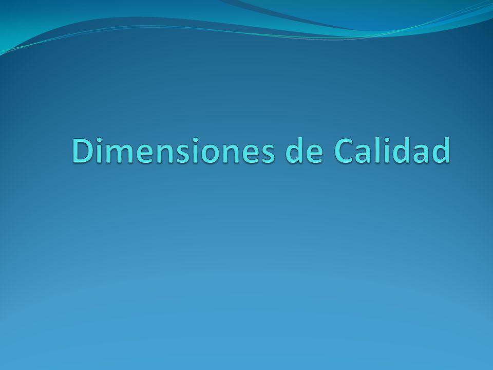 Dimensiones de Calidad