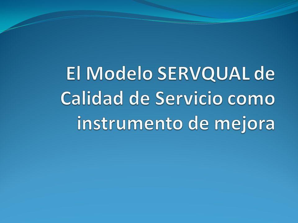 El Modelo SERVQUAL de Calidad de Servicio como instrumento de mejora