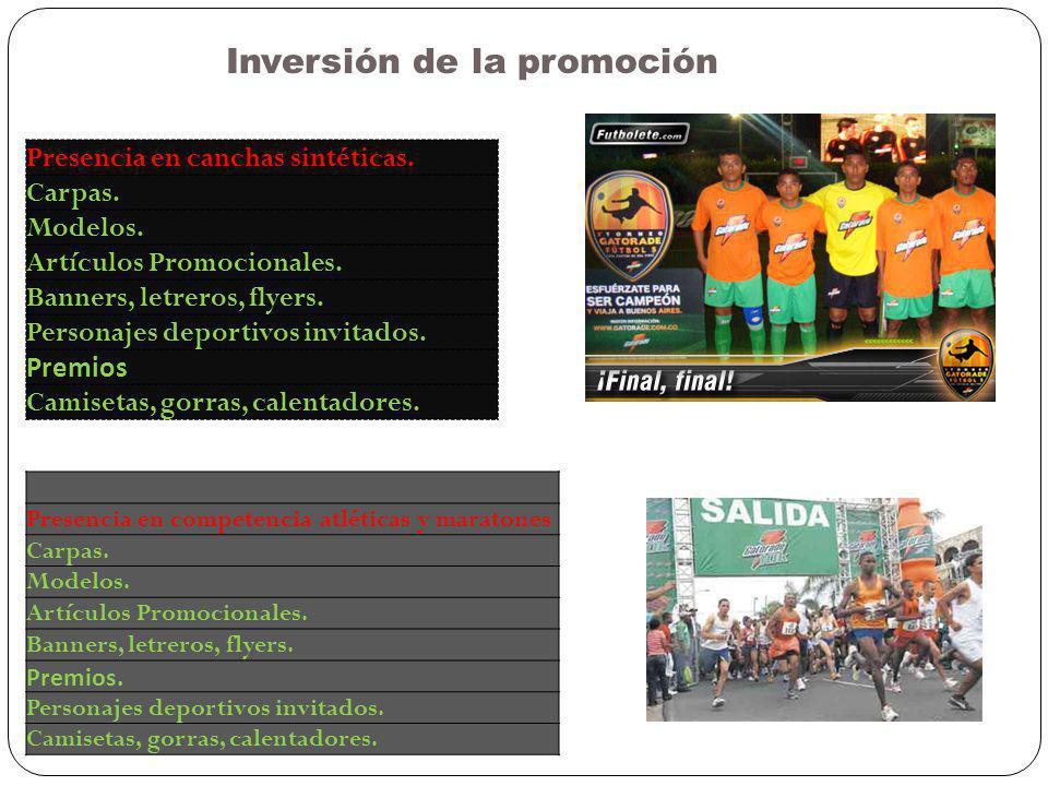 Inversión de la promoción