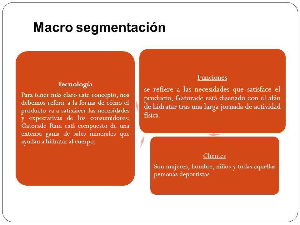Macro segmentación Funciones