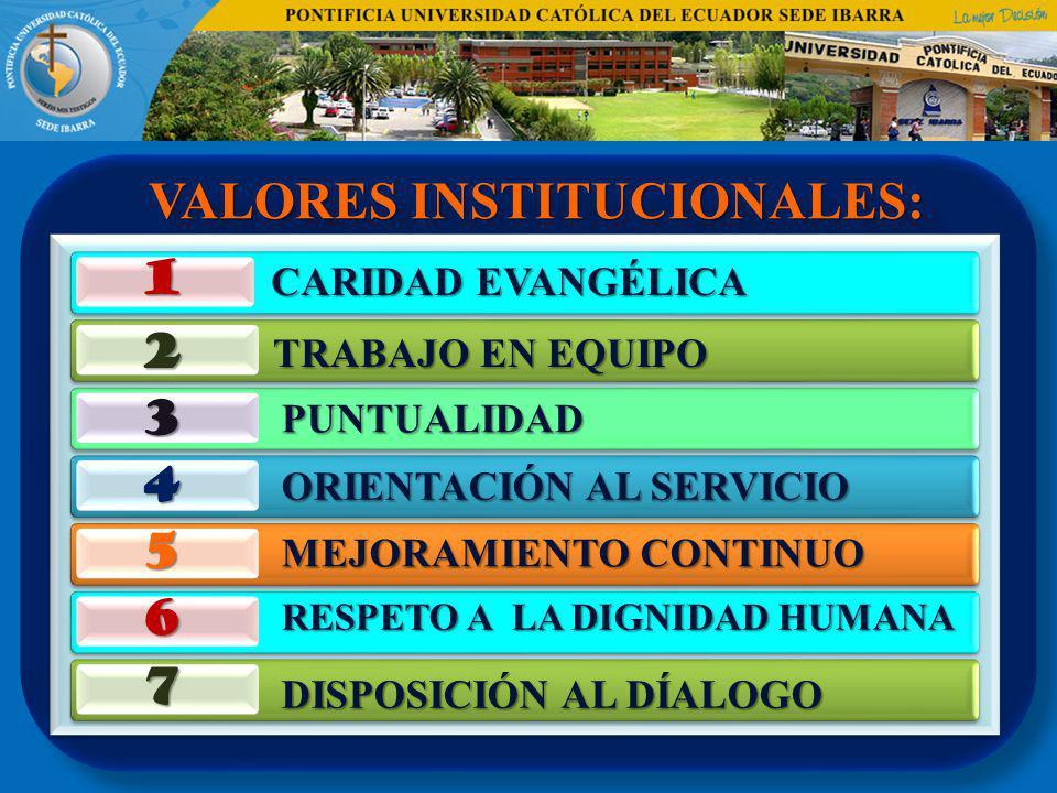 VALORES INSTITUCIONALES: