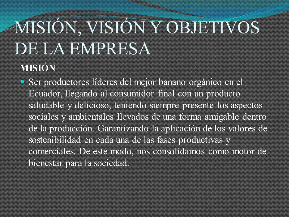 MISIÓN, VISIÓN Y OBJETIVOS DE LA EMPRESA