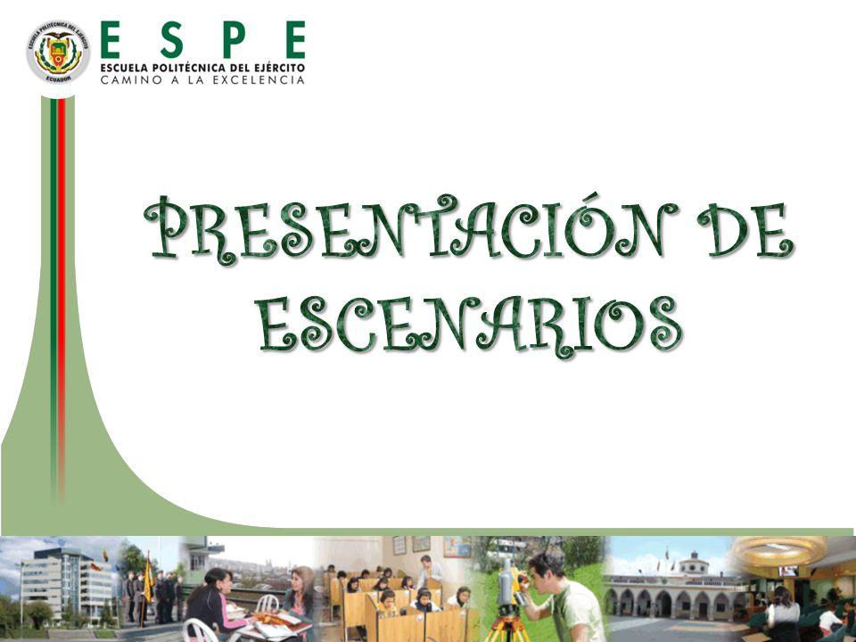 PRESENTACIÓN DE ESCENARIOS