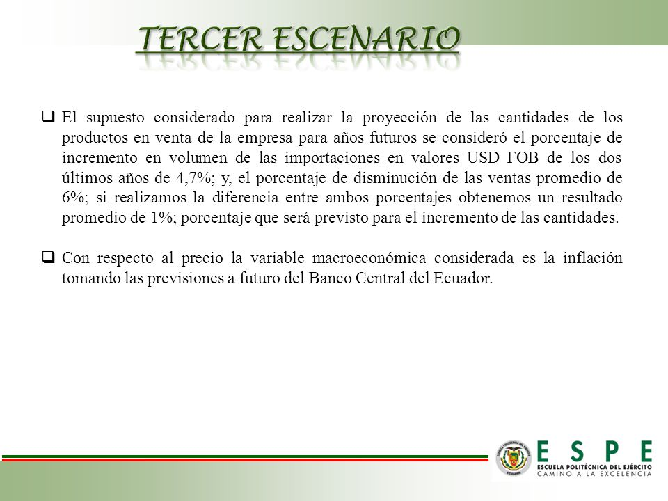 TERCER ESCENARIO