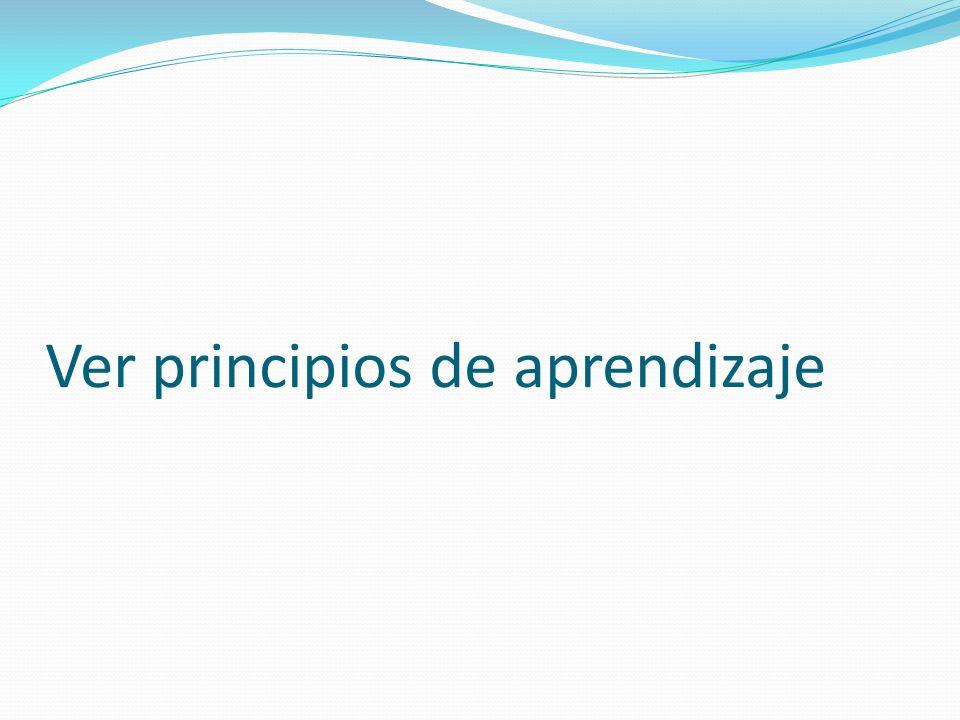 Ver principios de aprendizaje