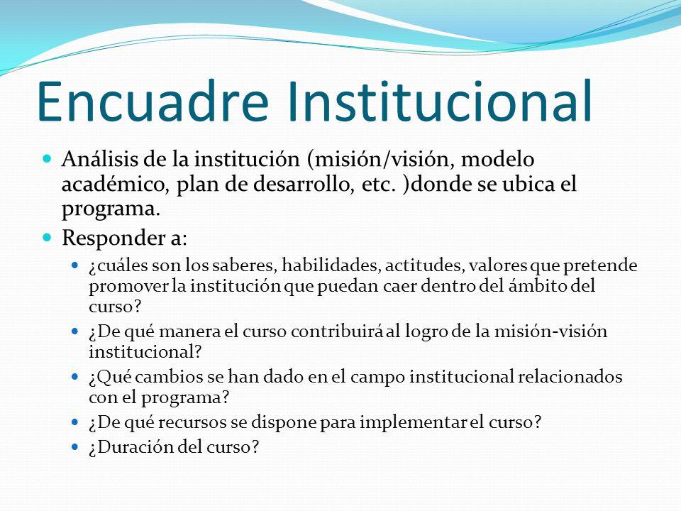 Encuadre Institucional