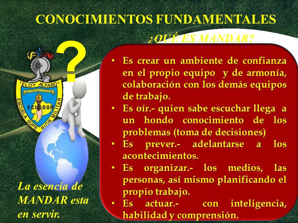 CONOCIMIENTOS FUNDAMENTALES ¿QUÉ ES MANDAR
