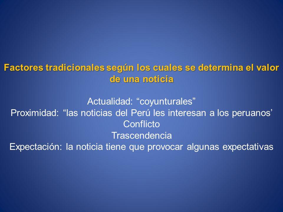 Actualidad: coyunturales