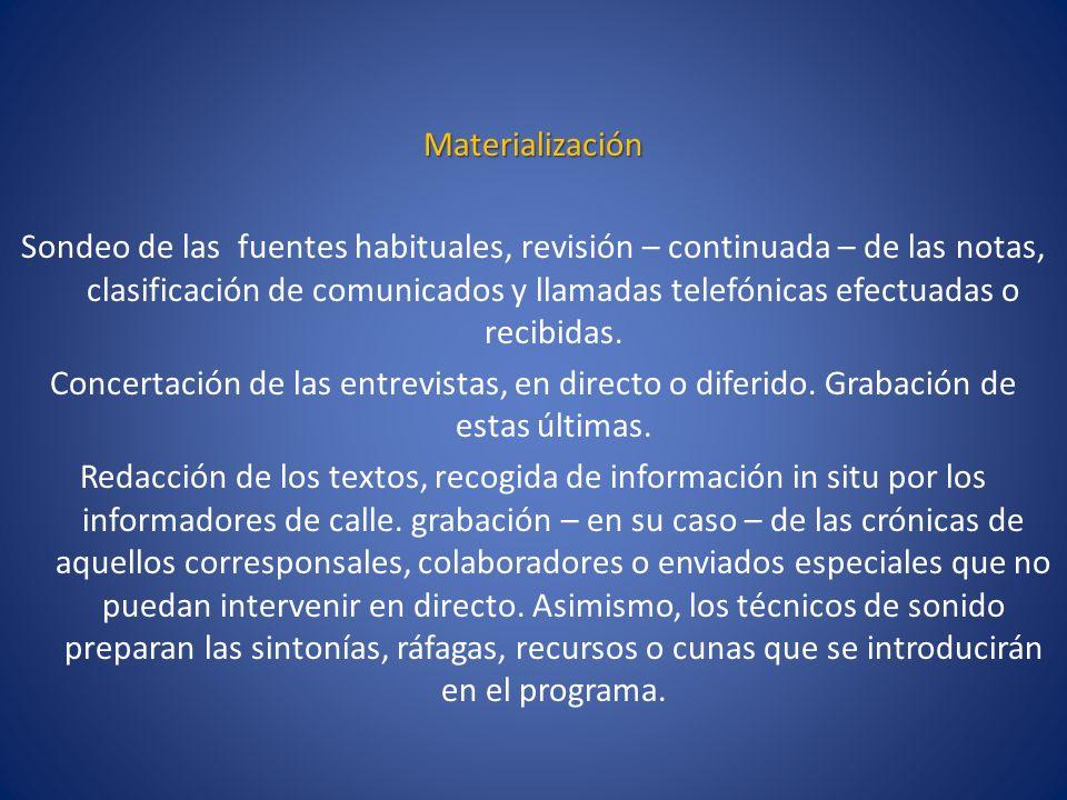 Materialización
