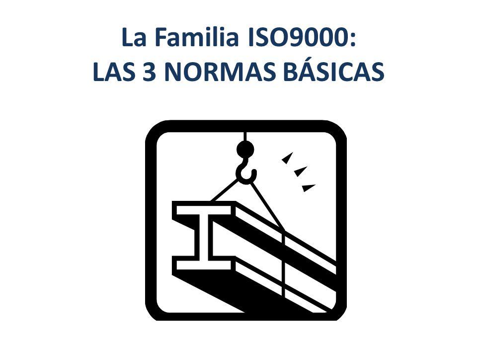 La Familia ISO9000: LAS 3 NORMAS BÁSICAS