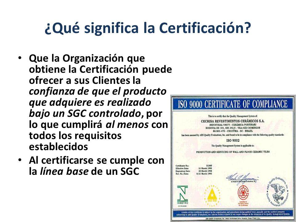 ¿Qué significa la Certificación