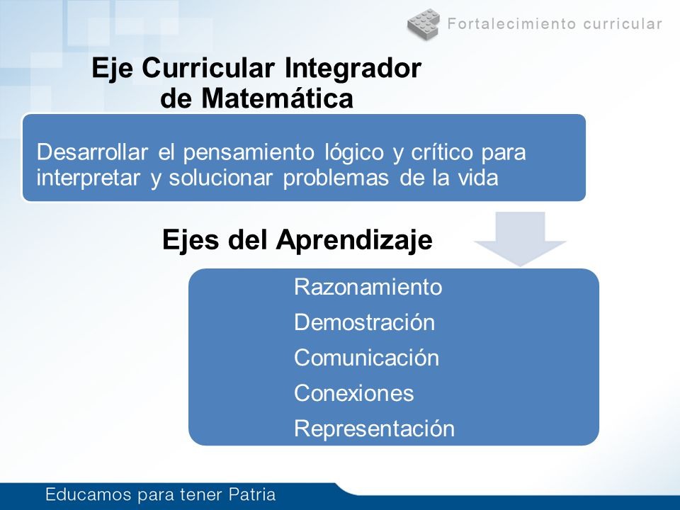 Eje Curricular Integrador de Matemática