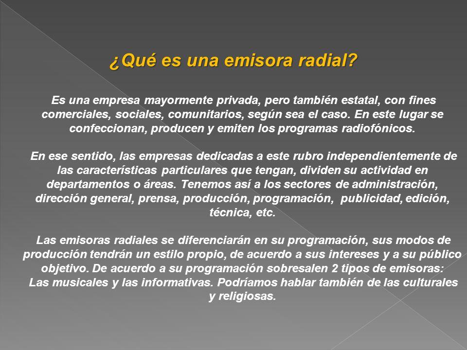 ¿Qué es una emisora radial