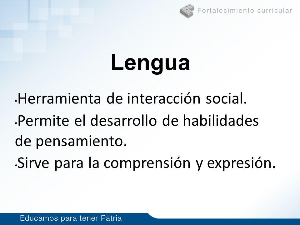 Lengua Herramienta de interacción social.