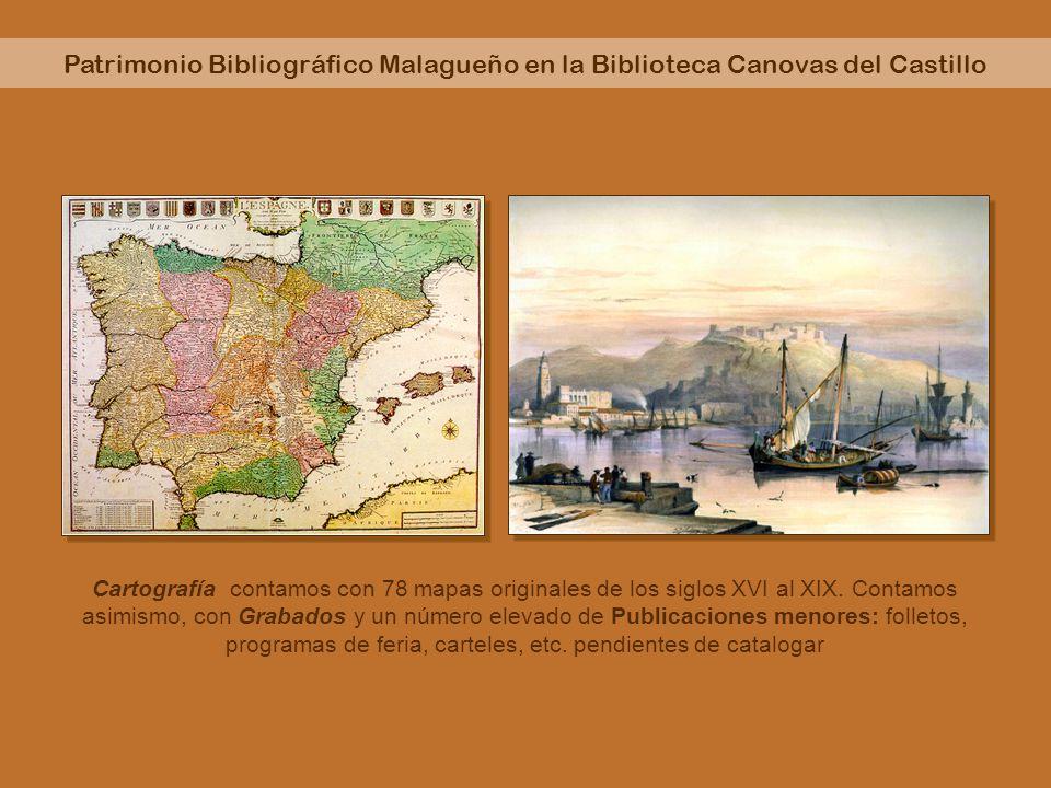 Patrimonio Bibliográfico Malagueño en la Biblioteca Canovas del Castillo