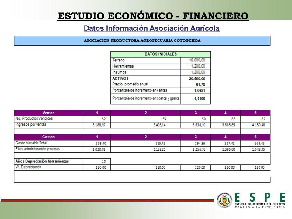 ESTUDIO ECONÓMICO - FINANCIERO Datos Información Asociación Agrícola
