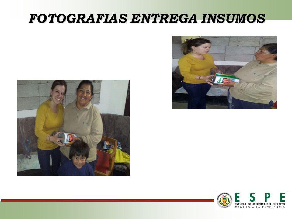 FOTOGRAFIAS ENTREGA INSUMOS