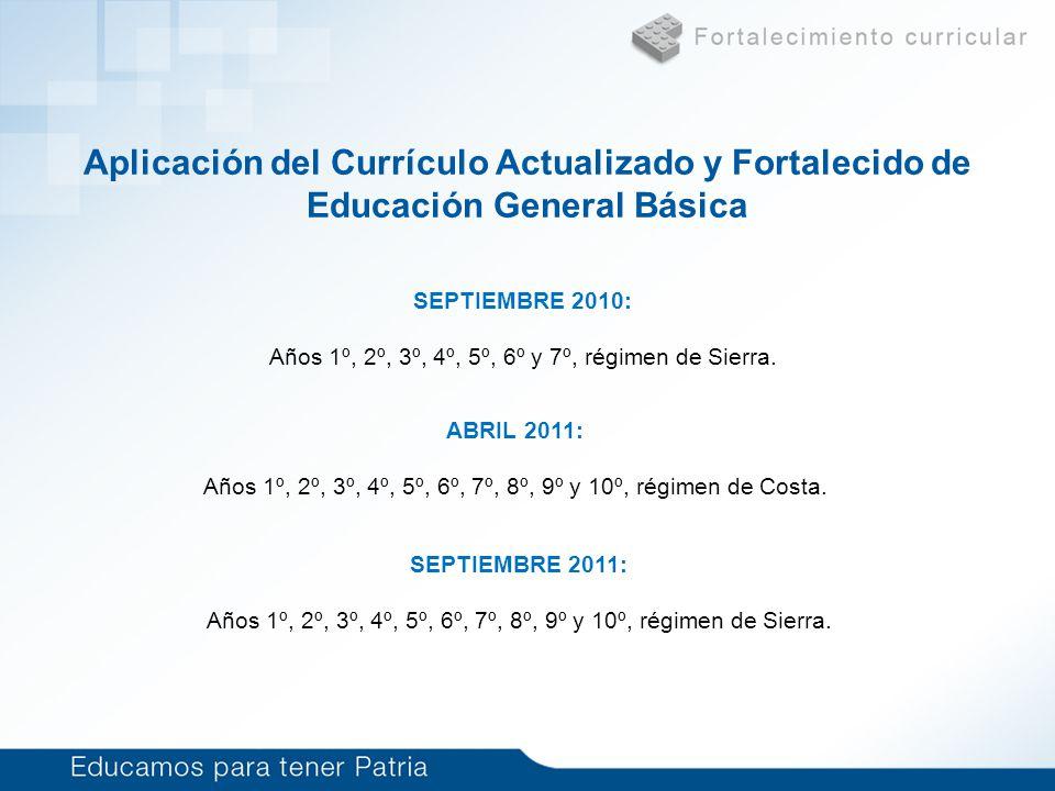 Currículo de Educación Básica (6 a 15 años)