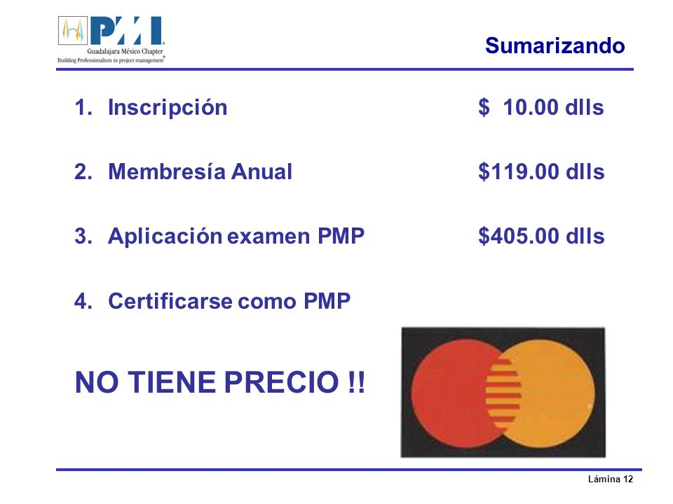 NO TIENE PRECIO !! $534.00 dlls Sumarizando Inscripción $ 10.00 dlls