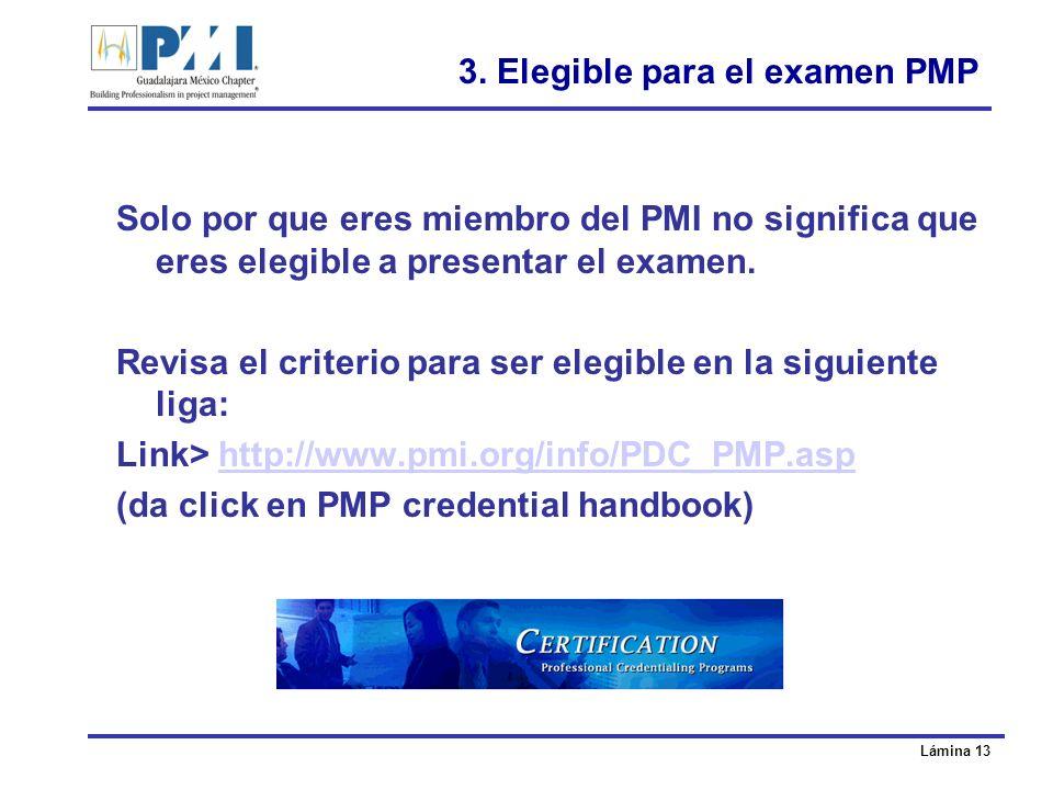 3. Elegible para el examen PMP