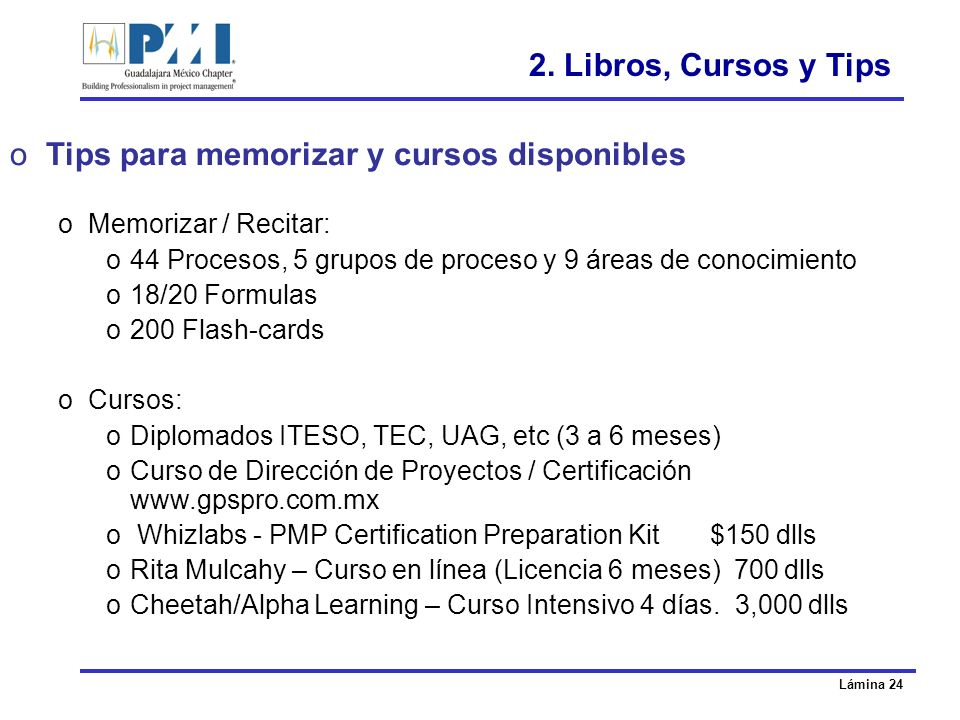 Tips para memorizar y cursos disponibles