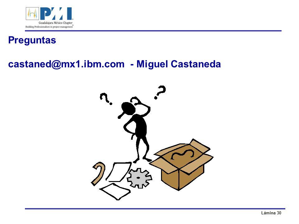 Preguntas castaned@mx1.ibm.com - Miguel Castaneda