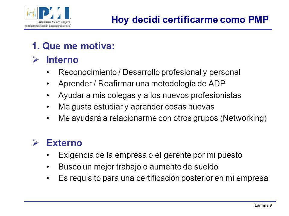 Hoy decidí certificarme como PMP