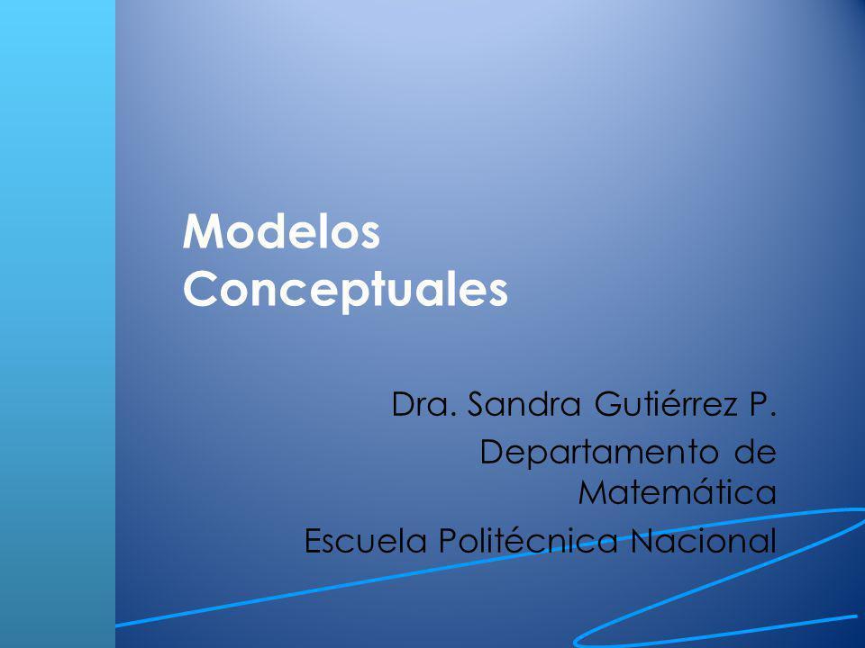 Modelos Conceptuales Dra. Sandra Gutiérrez P.