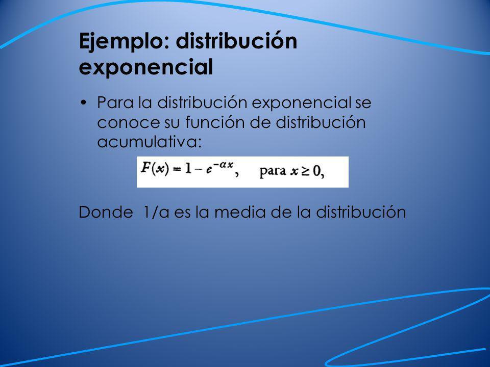 Ejemplo: distribución exponencial