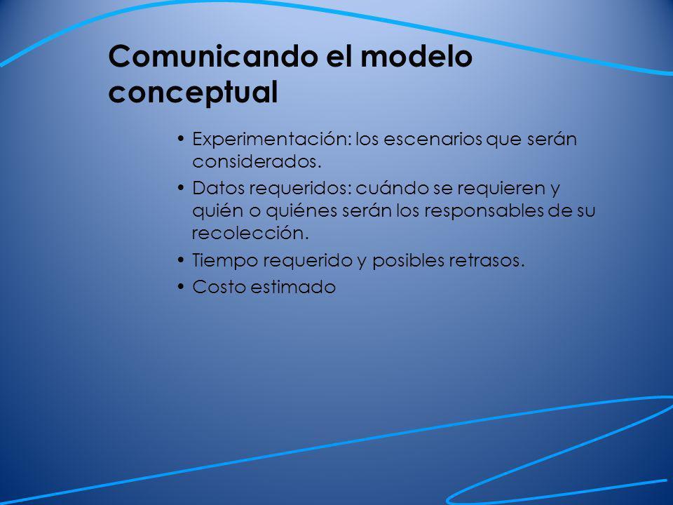 Comunicando el modelo conceptual