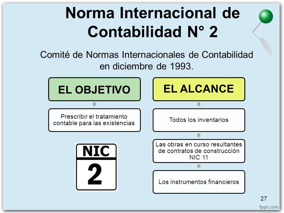 Norma Internacional de Contabilidad N° 2