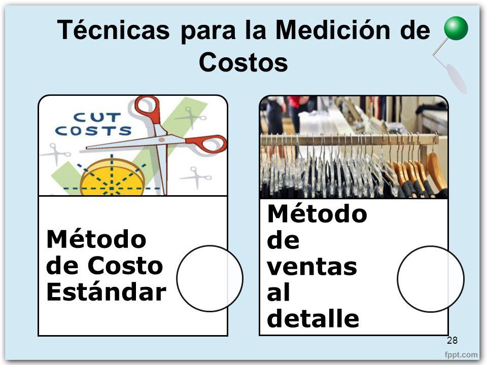 Técnicas para la Medición de Costos