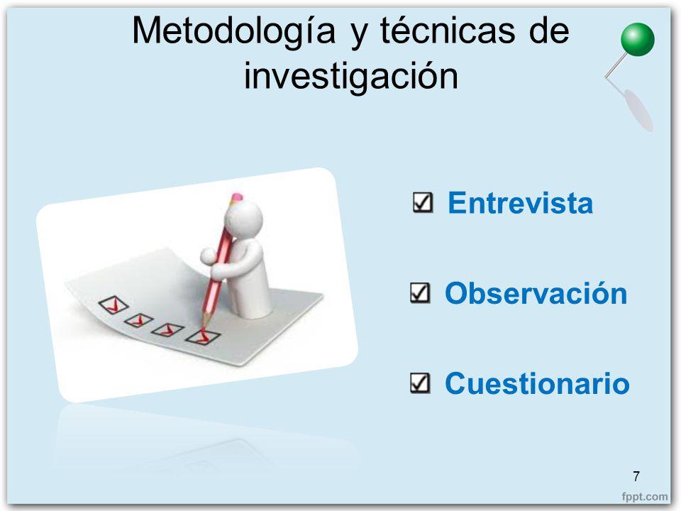 Metodología y técnicas de investigación