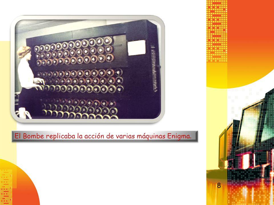 El Bombe replicaba la acción de varias máquinas Enigma.