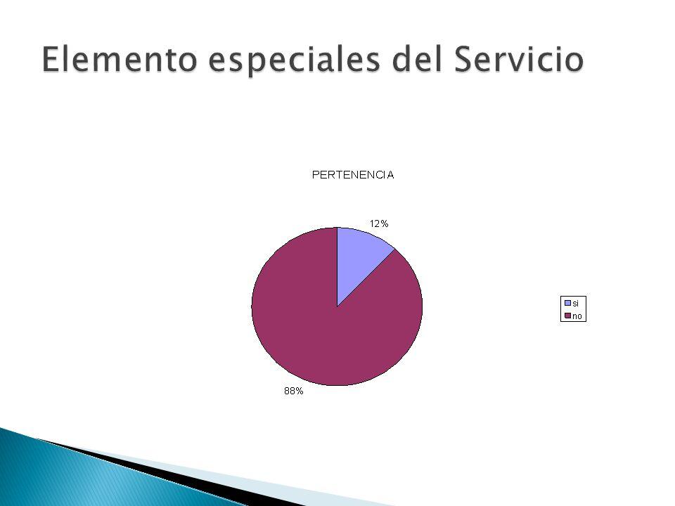 Elemento especiales del Servicio