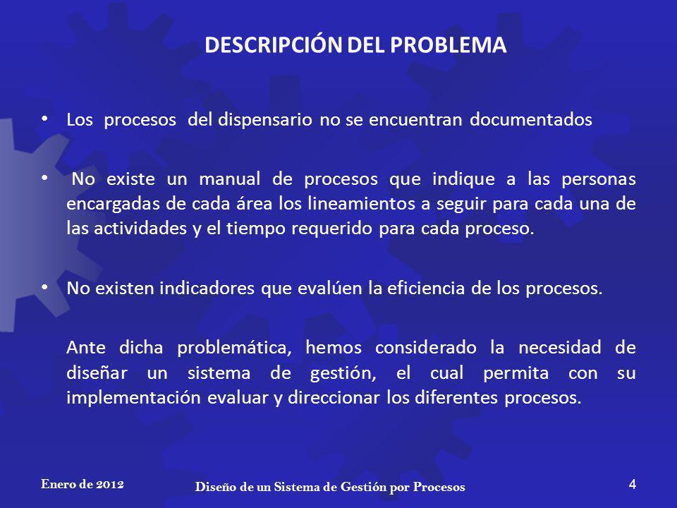DESCRIPCIÓN DEL PROBLEMA Diseño de un Sistema de Gestión por Procesos