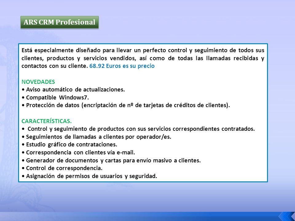 ARS CRM Profesional