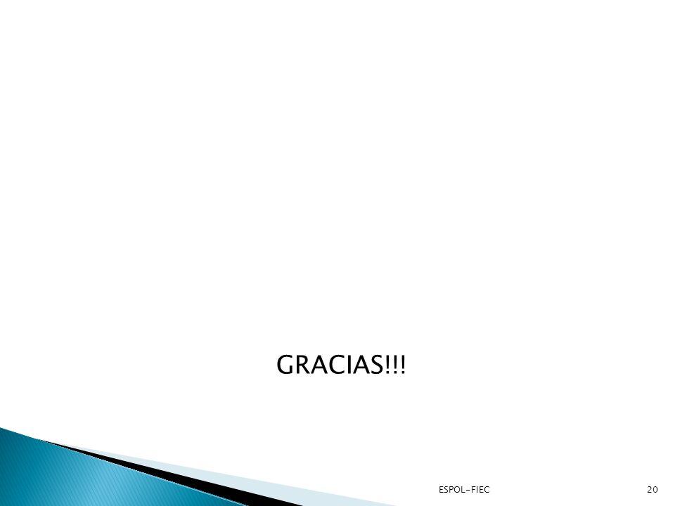 GRACIAS!!! Preguntas ESPOL-FIEC