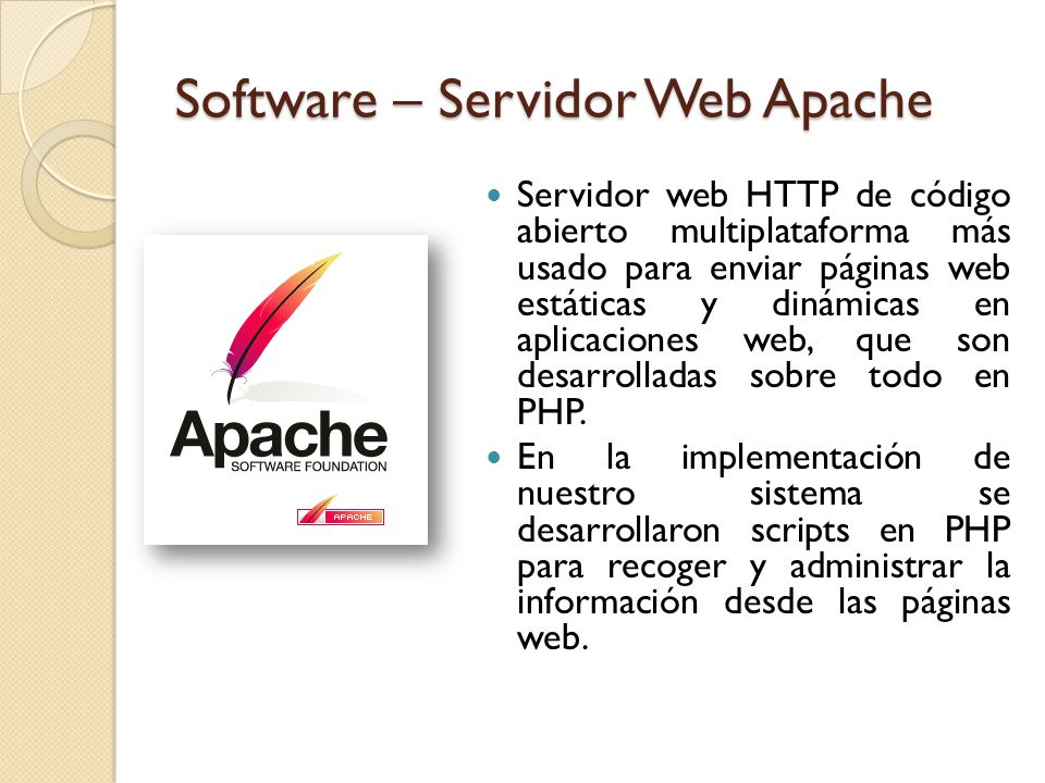 Software – Servidor Web Apache