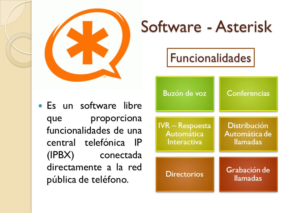 Software - Asterisk Funcionalidades