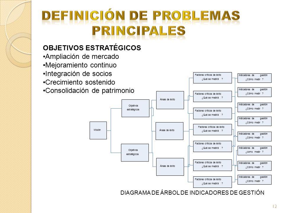 definición de problemas principales