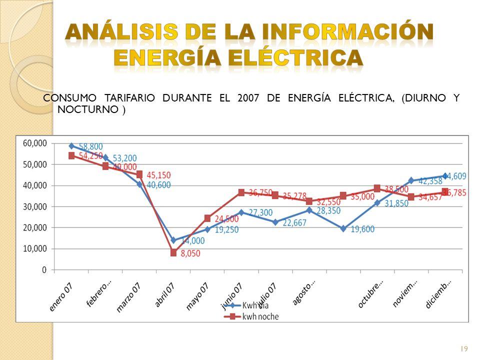 ANÁLISIS DE LA INFORMACIÓN ENERGÍA ELÉCTRICA